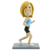 Jogging Woman Bobblehead