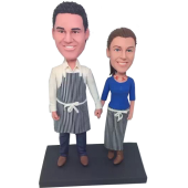 Kichen Couple Custom Bobbleheads