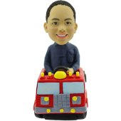 Kid in Fire Fighting Truck Bobblehead