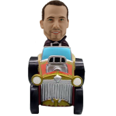 Man in Ancient Car Custom Bobblehead