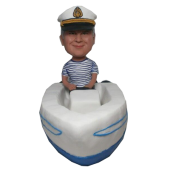 Man In Boat Custom Bobblehead