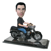 Man on Harley Davidson Bobblehead
