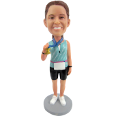 Marathon Winner Custom Bobblehead