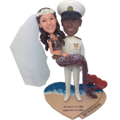 Marine and Mermaid Wedding Bobbleheads