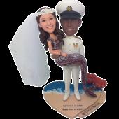 Marine and Mermaid Wedding Bobbleheads
