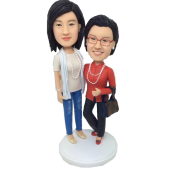Mom and Daughter Bobbleheads
