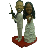 Mr & Mrs. Smith Cake Topper