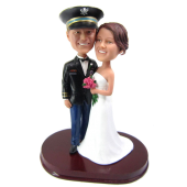 Officer Wedding Cake Topper