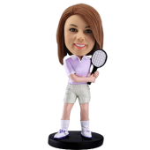 Customized Bobblehead Woman Tennis