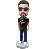 Personalized Cool Man Bobblehead