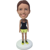 Personalized Sport Girl Bobble Head