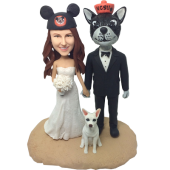 Pet Loving Couple Bobbleheads