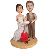 Picnic Couple Wedding Cake Topper