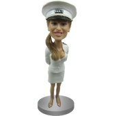 Sexy Girl In Marine Uniform Bobblehead