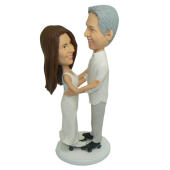 Skate Couple Cake Topper