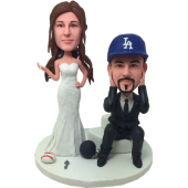 Sport Fans Wedding Cake Toppers
