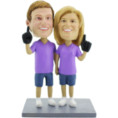 Sport Fans Couple Cake Topper