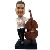 String Bass Player Custom Bobblehead