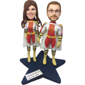 Superhero Couple Bobbleheads