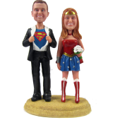 Superman and Wonder Woman Cake Topper
