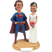 Superman Theme Wedding Cake Topper