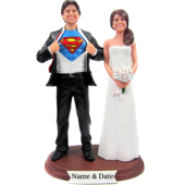 Superman Wedding Cake Topper Bobbleheads