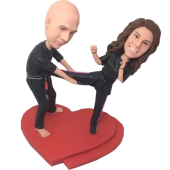 Taekwondo Couple Bobbleheads