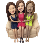 Triple Sisters Wedding Bobbleheads