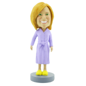 Woman in Bathrobe Bobblehead