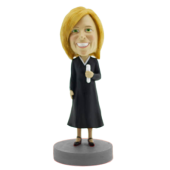 Woman in Graduation Gown Bobblehead