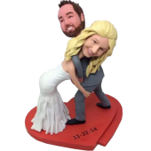 Wrestling Couple Wedding Cake Topper