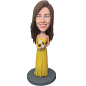 Yellow Dress Bidesmaid Bobblehead