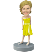 Yellow Dress Bridesmaid Bobblehead