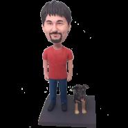 Man and Dog Custom Bobblehead
