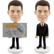 Custom Bobble Head Business Card Holder