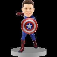 Personalised Captain America Bobblehead