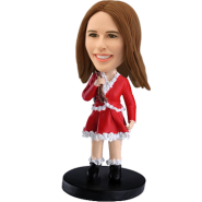 Personalized bobblehead Christmas Girl