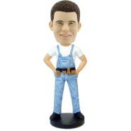 Custom Bobblehead Construction Worker