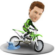 Custom Bobblehead Dirt Bike Racer