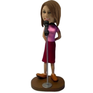 Custom Female Singer Bobble head