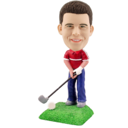 Custom Golfing Bobblehead