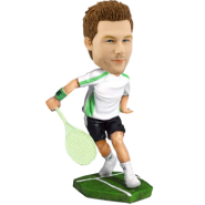 Custom tennis bobblehead