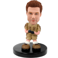 Customized bobblehead Man Adventurer