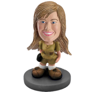 Customized bobblehead Woman adventurer