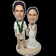 Hawaiian Wedding Custom Bobbleheads