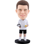 Customized bobblehead White t-shirt tennis
