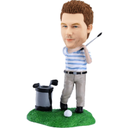 Personalized golfing bobblehead