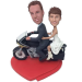 Couple on Motorcycle Bobbleheads