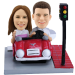 Custom Bobblehead Couple on Car