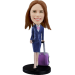 Customized bobblehead Stewardess /Traveler